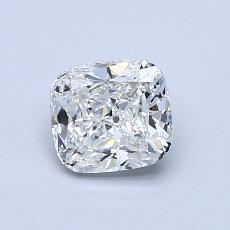 0.80-Carat Cushion Diamond Very Good E VVS2