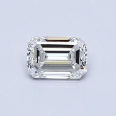 Pierre recommandée n°4: Diamant 0,50carat taille émeraude