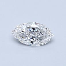 0.38-Carat Marquise Diamond Very Good E VVS1