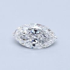 0,38-Carat Marquise Diamond Very Good E VVS1