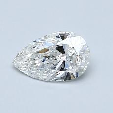 推薦鑽石 #3: 0.59 克拉梨形鑽石