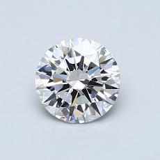 0.71-Carat Round Diamond Ideal F VVS2