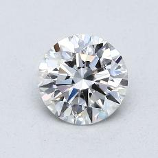 0.71-Carat Round Diamond Ideal D VS2