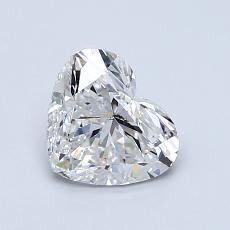 Piedra recomendada 1: Diamante con forma de corazón de 1.00 quilates