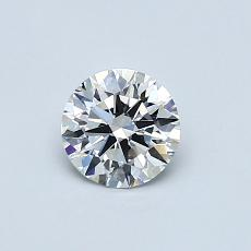 0.52-Carat Round Diamond Ideal F VS1