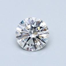 0.60-Carat Round Diamond Ideal F SI2