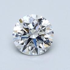 1.01-Carat Round Diamond Ideal F IF