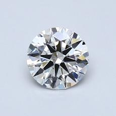 0,70-Carat Round Diamond Ideal H VVS1