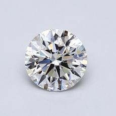 0.80-Carat Round Diamond Ideal G VVS2