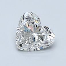 1,00-Carat Heart Diamond Very Good F SI2