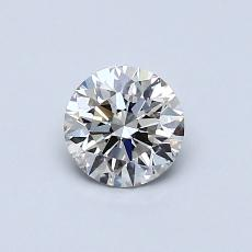 0.51-Carat Round Diamond Ideal J SI2