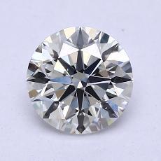 1.26 Carat ラウンド Diamond アイデアル H VS2