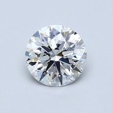 0.77-Carat Round Diamond Ideal E VS1