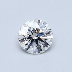 0.50-Carat Round Diamond ASTOR G VS1