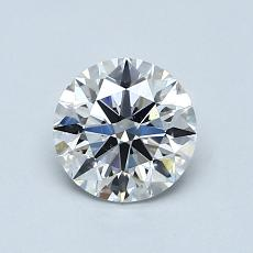 0.90-Carat Round Diamond Ideal F VS2