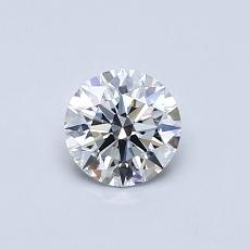 0.50-Carat Round Diamond Ideal D FL