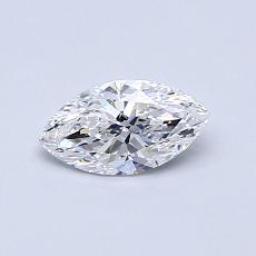 所選擇的鑽石: 0.50  克拉欖尖形切割鑽石