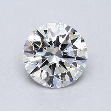 0.75 Carat 圆形 Diamond 理想 H VS2