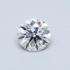 0.50-Carat Round Diamond Very Good G SI1