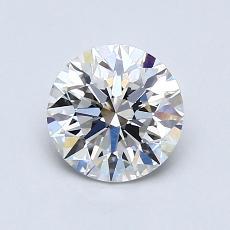 推荐宝石 2:1.00克拉圆形切割钻石