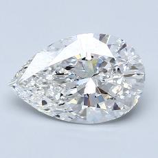 Pierre recommandée n°1: Diamant taille poire 2,05carats