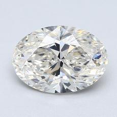 Piedra recomendada 3: Diamantes de talla ovalada de 2.00 quilates
