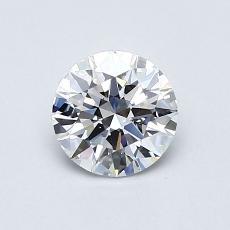 0.71-Carat Round Diamond Ideal D VS1