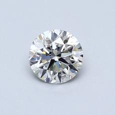 0.50-Carat Round Diamond Ideal I VS2