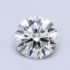 0,75-Carat Round Diamond Ideal E VVS2