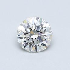 0,60-Carat Round Diamond Ideal H VVS2