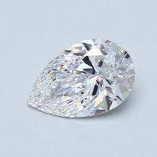 0.80-Carat Pear Diamond Very Good D VS1