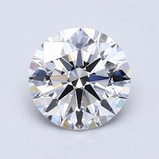 1,08 Carat Rond Diamond Idéale E IF