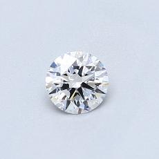 0.30-Carat Round Diamond Ideal D VVS1