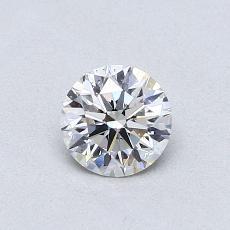 0,50-Carat Round Diamond Ideal F VS2