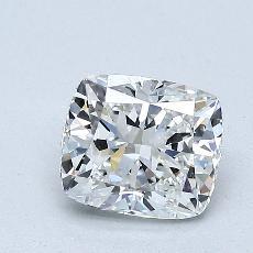 1,01-Carat Cushion Diamond Very Good F VS1