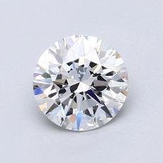 1.00-Carat Round Diamond Ideal E VVS2