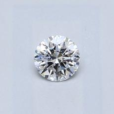 0.30-Carat Round Diamond Ideal D SI2