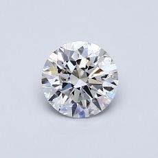 0.53 Carat 圆形 Diamond 理想 E VVS1
