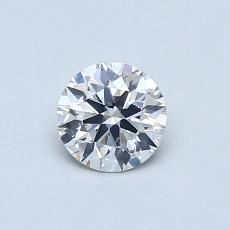 0.50-Carat Round Diamond Ideal F SI1