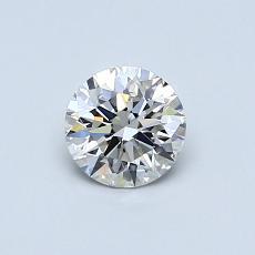 0.50 Carat 圆形 Diamond 理想 J VS2