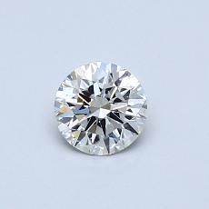 0,40-Carat Round Diamond Ideal K SI2