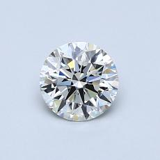 0,60-Carat Round Diamond Ideal J VVS2