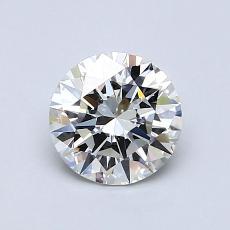 0.90 Carat 圆形 Diamond 理想 H VS1