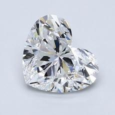 推薦鑽石 #3: 1.50 克拉心形切割鑽石