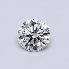 0,52-Carat Round Diamond Ideal I VS2