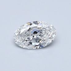 推荐宝石 1:0.49 克拉椭圆形切割