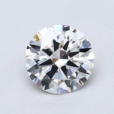 1,00-Carat Round Diamond Ideal E VVS2