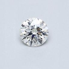0.32-Carat Round Diamond Ideal F SI1
