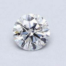 0.77-Carat Round Diamond Ideal D VS2