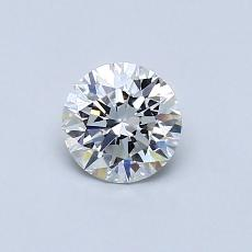 0.50-Carat Round Diamond Ideal F VVS2